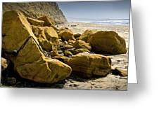 Boulders On The Beach At Torrey Pines State Beach Greeting Card