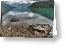Boulders On The Edge Of Cheakamus Lake Greeting Card