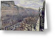 Boulevard Des Italiens Greeting Card