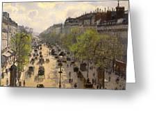 Boulevard Montmarte Greeting Card