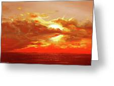 Bound Of Glory - Red Sunset  Greeting Card