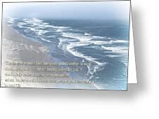 Boundaries Of Beaches Greeting Card