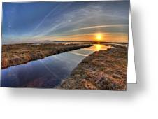 Boundary Bay B.c Sunset Greeting Card