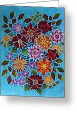 Bouquet Ala Tiffany Greeting Card