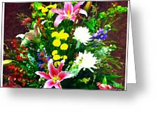 Bouquet Bounty Greeting Card