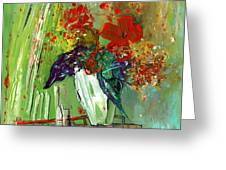 Bouquet In A White Vase Greeting Card
