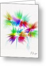 Bouquet In The Sun Abstract Greeting Card