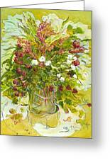 Bouquet Jaune - Original For Sale Greeting Card