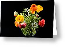 Bouquet Of Ranunculus Greeting Card