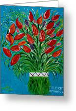 Bouquet Of Red Greeting Card