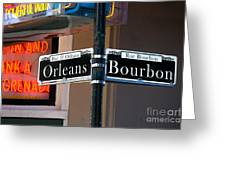 Bourbon And Orleans Greeting Card