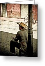 Bourbon Cowboy In New Orleans Greeting Card