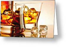 Bourbon - Large Size Painting Greeting Card