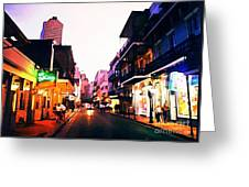 Bourbon Street Early Evening Greeting Card