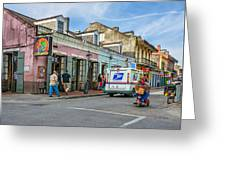 Bourbon Street - Let The Party Begin Greeting Card