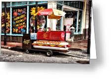 Bourbon Street Lucky Dog Greeting Card by Bill Cannon