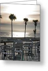 Bournemouth Beach In December Greeting Card