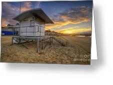 Bournemouth Beach Sunrise Greeting Card
