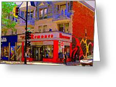 Boutique Erotique Romance Mont Royal The Love You Make Is Equal To The Love You Take City Scene Art Greeting Card