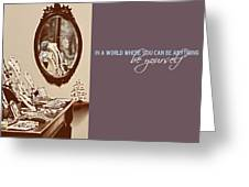 Boutique Quote Greeting Card by JAMART Photography