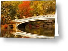 Bow Bridge Beauty Greeting Card