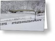 Bow Bridge Central Park Winter Wonderland Greeting Card