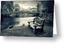 Bow Bridge Nostalgia Greeting Card