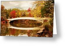 Bow Bridge Reflected Greeting Card by Jessica Jenney