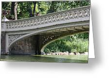 Bow Bridge Texture - Nyc Greeting Card