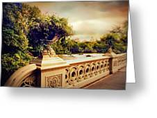 Bow Bridge View Greeting Card