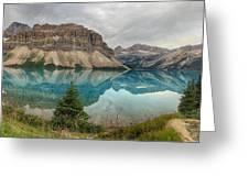 Bow Lake Pano Banff National Park Greeting Card