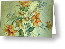 Bow Of Flowers Greeting Card