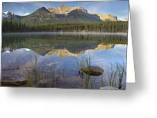 Bow Range And Herbert Lake Banff Greeting Card