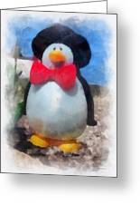 Bow Tie Penguin Photo Art Greeting Card