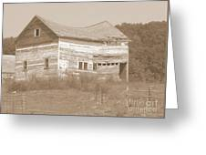 Bowed And Lonely Barn Greeting Card