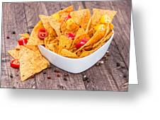 Bowl Filled With Nachos Greeting Card
