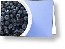 Bowl Of Blueberries Greeting Card