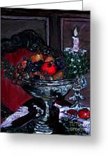 Bowl Of Holiday Passion Greeting Card