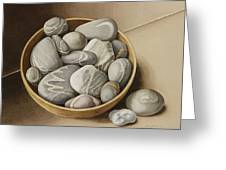 Bowl Of Pebbles Greeting Card