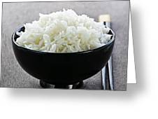 Bowl Of Rice With Chopsticks Greeting Card