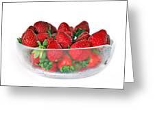 Bowl Of Strawberries Greeting Card