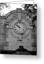 Bowling Green Time In Black And White Greeting Card