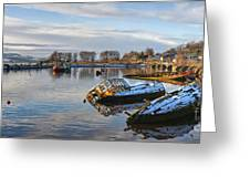Bowling Harbour Panorama 01 Greeting Card