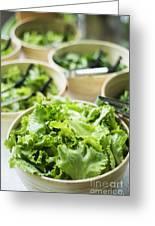 Bowls Of Salad Keaves Greeting Card