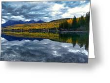 Bowman Lake Quietude Greeting Card