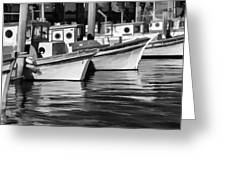 Bows Out Black And White Greeting Card
