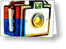 Box Camera Pop Art 3 Greeting Card