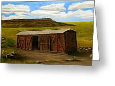 Boxcar On The Plains Greeting Card