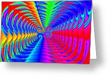 Boxed Rainbow Swirls 2 Greeting Card
