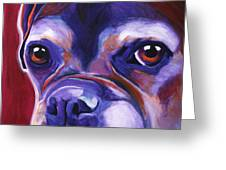 Boxer - Wallace Greeting Card by Alicia VanNoy Call